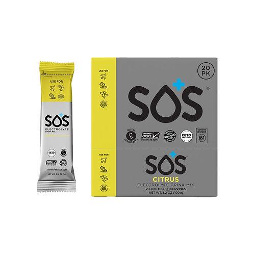 SOS Hydration Elektrolytenpoeder Citrus | 20-Pack