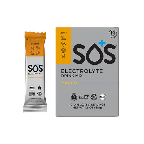 SOS Hydration Elektrolytenpoeder Mango | 10-Pack