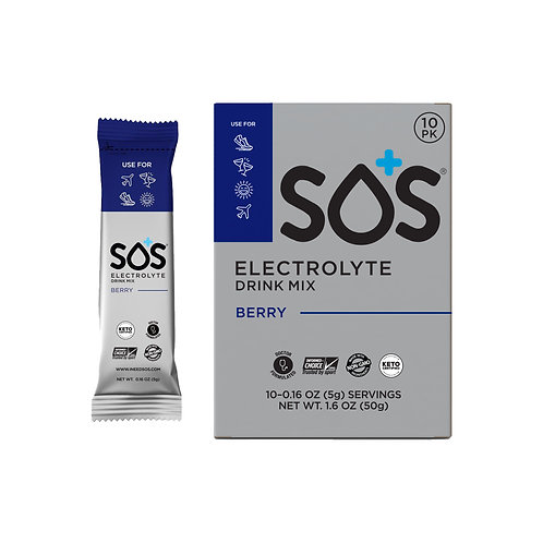 SOS Hydration Elektrolytenpoeder Blauwe Bes   10-Pack