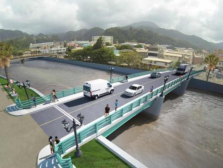 West Bridge Construction Begins in Dominica