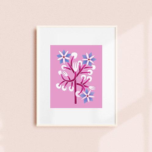 Borage Plant Art Print