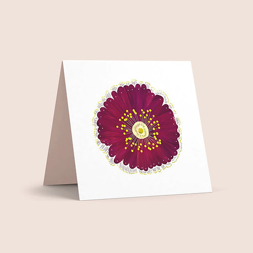 Burgundy Poppy Greeting Card