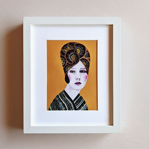 Mustard Lady Framed Print