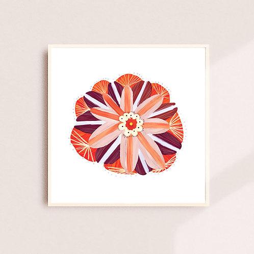 Amaryllis + Hibiscus Print