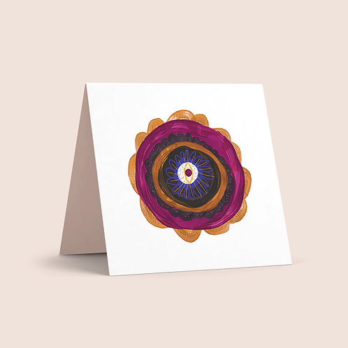 Anemone Burgundy Flower Greeting Card
