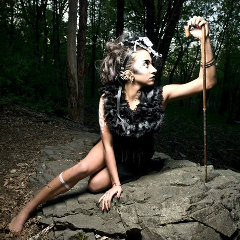 Accessory collaboration by Moonstruck [Gina Hopkins], IPCFDesigns [Tristen] & Jalisa Ocean. Photography by Devious Behaviour Productions , Body Paint- Tristen Make up-Tracy and Models: Julia, Simon, Mari Lou, Jeanne, Tanya. Assistants- Mariyum, Vanessa/Oni, Liam, Guillaune.