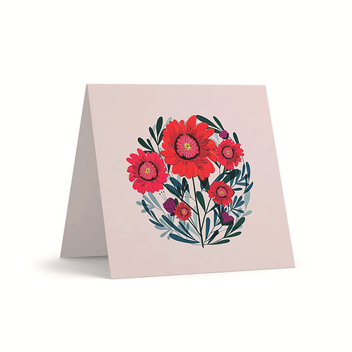 Dhalias Greeting Card