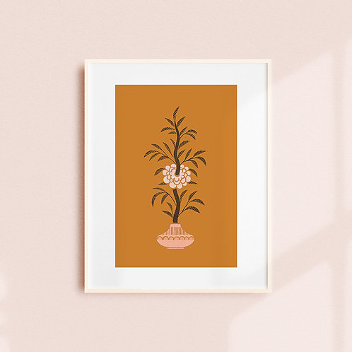 Camellia Art Print (3 colours)