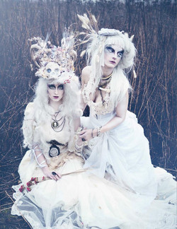 Photography: Kilkay Images Costume Design / Art Direction: Jalisa Ocean + House of Barnes Models: Kelsey + Karlee  Hair: Linzo, House of Barnes + Jalisa Ocean Published in Dark Beauty Magazine Available for sale on line http://bit.ly/DBM_24p