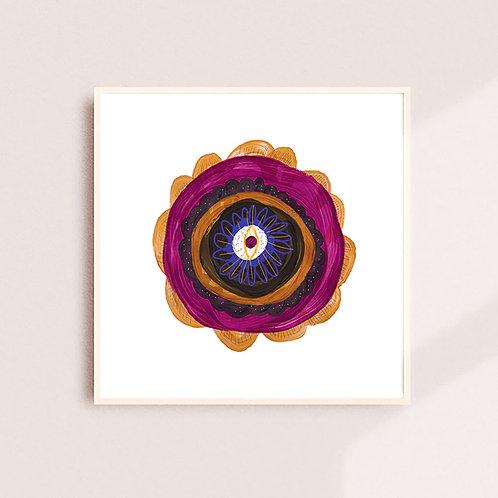 Anemone Burgundy Flower Print