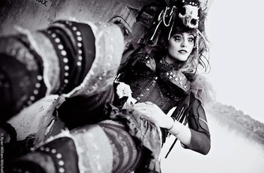 Photographer: Ryan Mitchell  Model: Crystel Clear  Costume / Headpiece: Jalisa Ocean