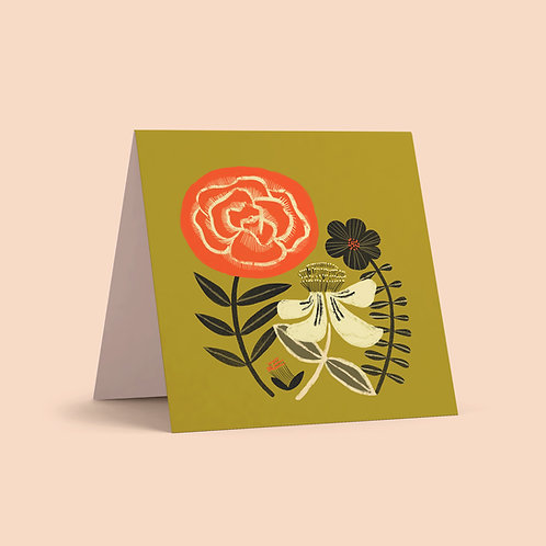 St. John's Wort + Rose Greeting Card