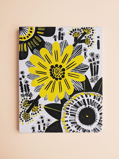 Abstract Acrylic Floral