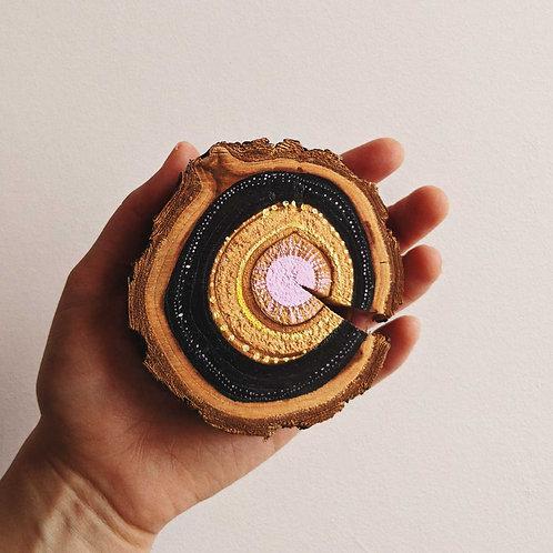 Rings Wood Cookie Wall Art