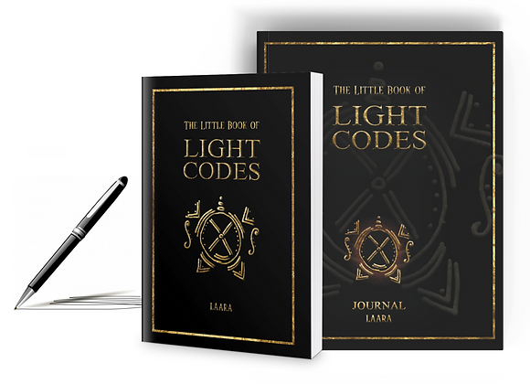 Signed Paperback Copy and Journal of The Little Book of Light Codes