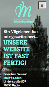 Landingpage website templates – Mode-Website im Aufbau