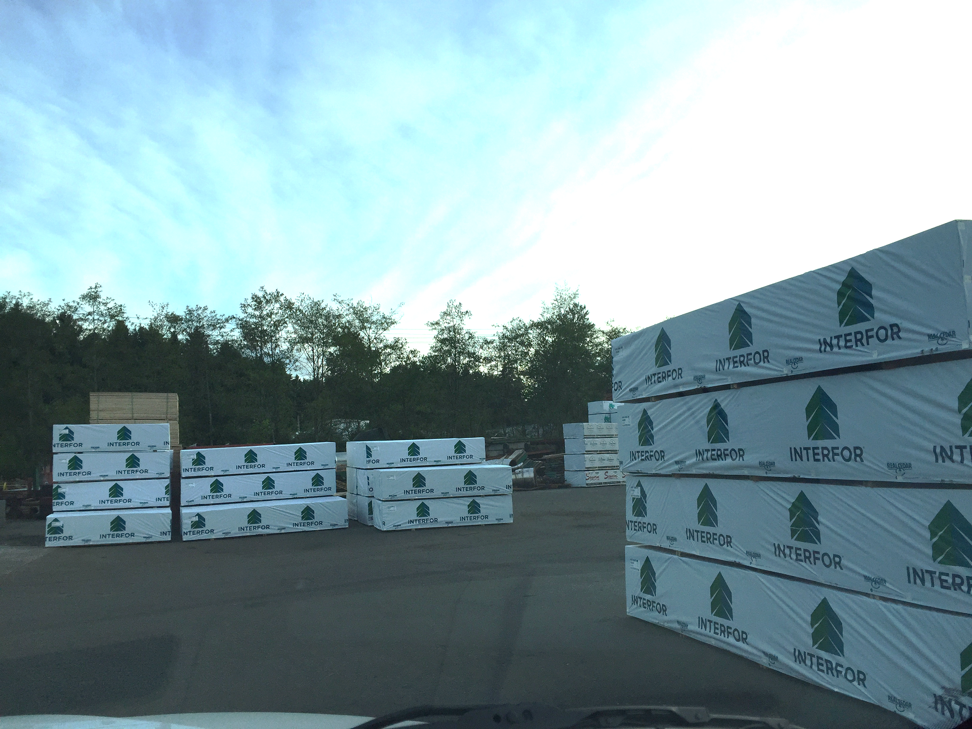 Interfor Lumber Ready for Loading