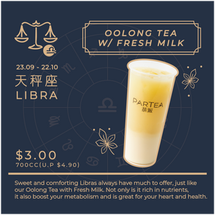 Special offer in Oolong Tea with Fresh Milk
