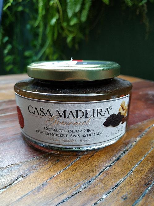CASA MADEIRA GELIA DE AMEIXA SECA COM GENGIBRE E ANIS ESTRELADO 240g