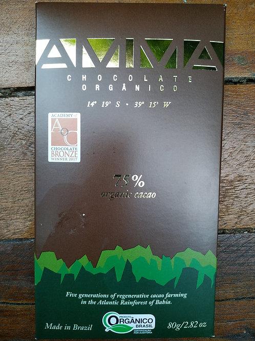 Chocolate Orgânico 75% Cacau AMMA