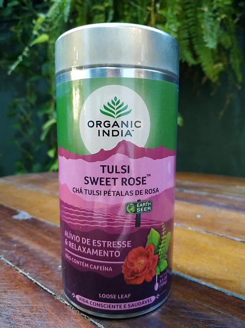 Chá Tulsi Pétalas de rosas