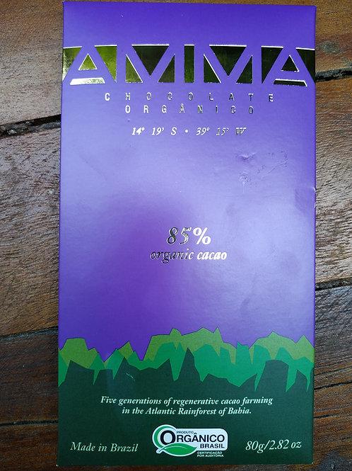 Chocolate orgânico 85% Cacau 80g