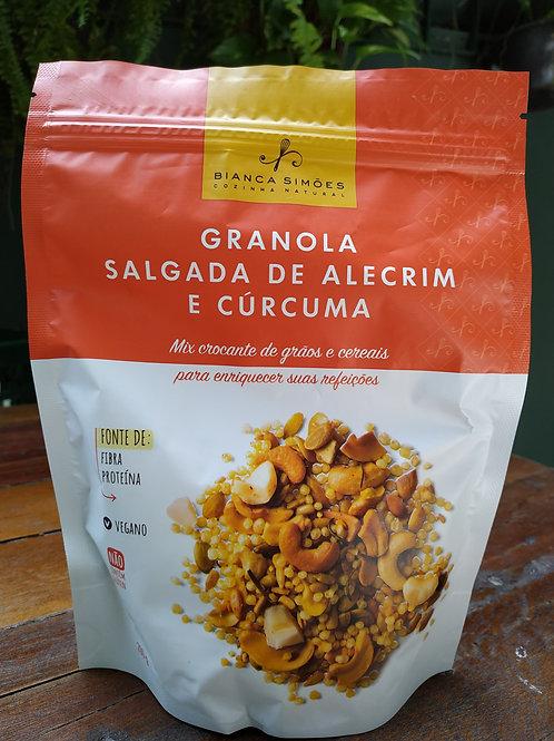 Granola Salgada de alecrim e cúrcuma