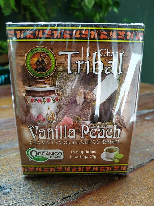 Chás Tribal Mate sabor baunilha e pêssego