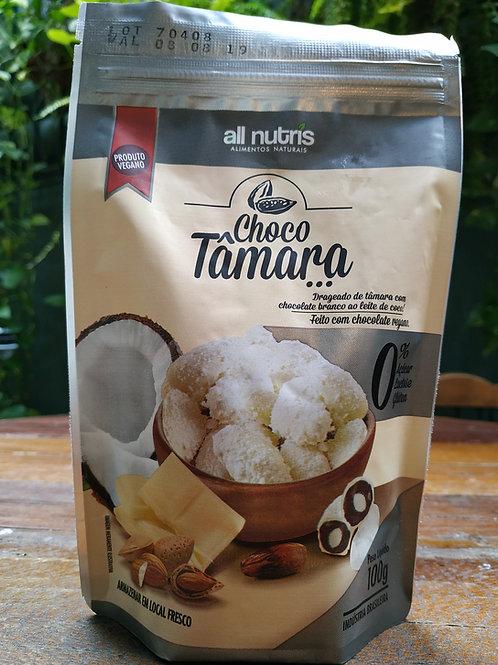 Choco Tâmara 100g chocolate branco ao leite de coco