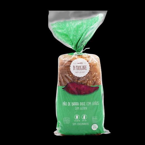 Pão de Batata Doce com grãos sem glúten e sem lactose Di Mangiare 450g