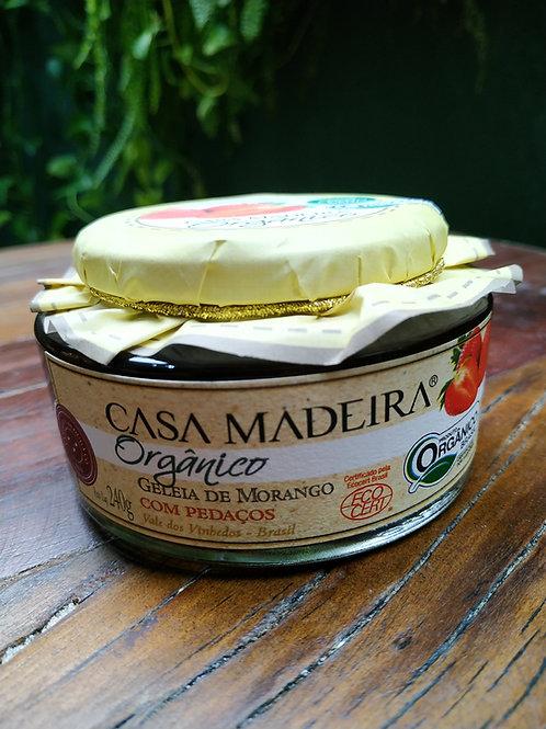 CASA MADEIRA ORGANICO GELEIA DE MORANGO 240g