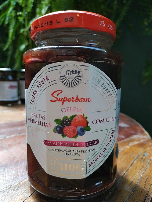 SUPERBOM GELEIA FRUTAS VERMELHAS COM CHIA 310 g