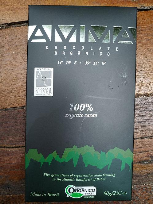 Chocolate orgânico AMMA 80g