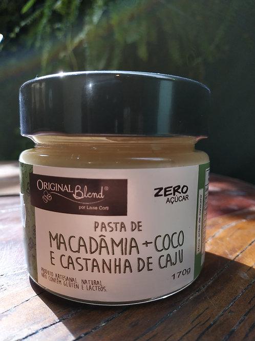 ORIGINAL BLEND  PASTA DE MACADAMIA COCO E CASTANHA DE CAJU 170g