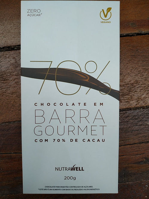 Chocolate em barra Gourmet 70% Cacau 200g