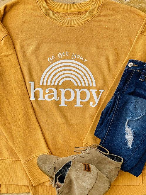 """Go Get Your Happy"" Sweater"