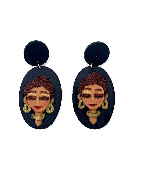Polymer Clay Earrings Natural Hair 1