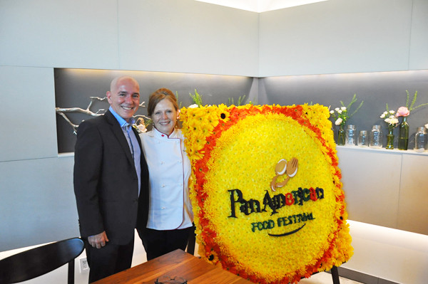 Daniel Garcia-Herreros, Festival Director & Donna Dooher, Celebrity Chef