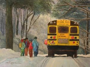 Obra: School Bus Cortesía: Luis Ramírez