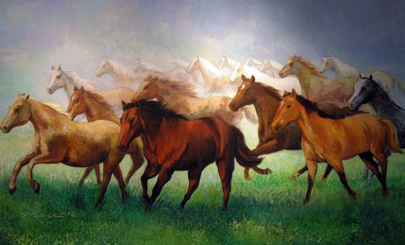 Obra: Horses Cortesía: Luis Ramírez