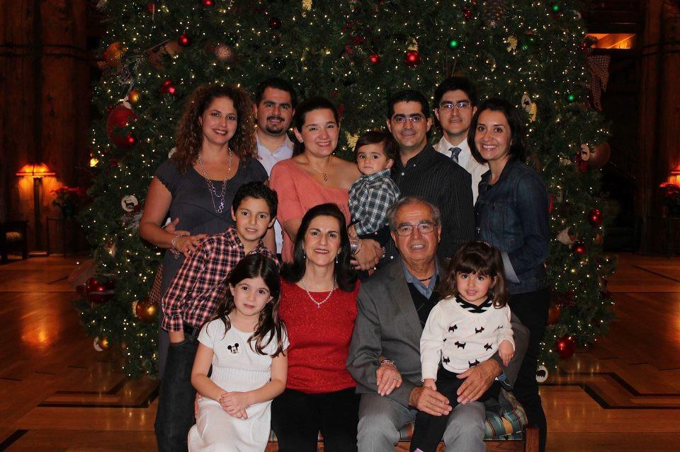 Hernando Díaz Cobo y su familia.