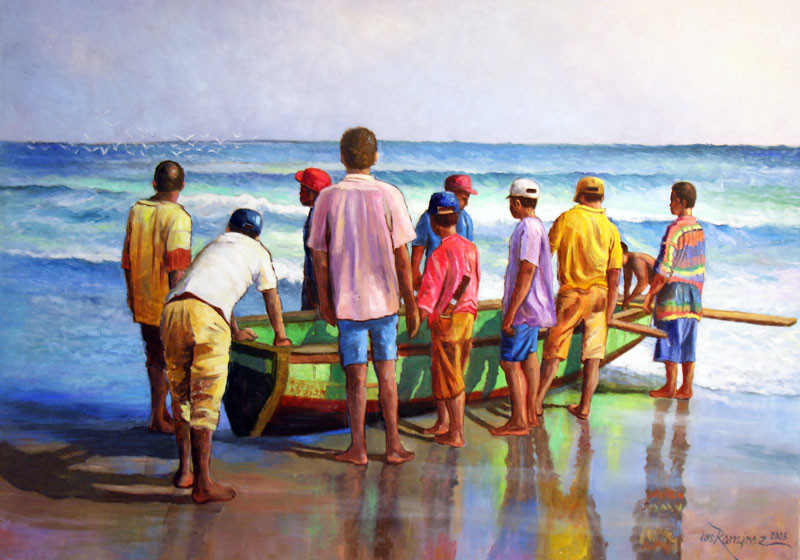 Obra: Fishing Time Cortesía: Luis Ramirez