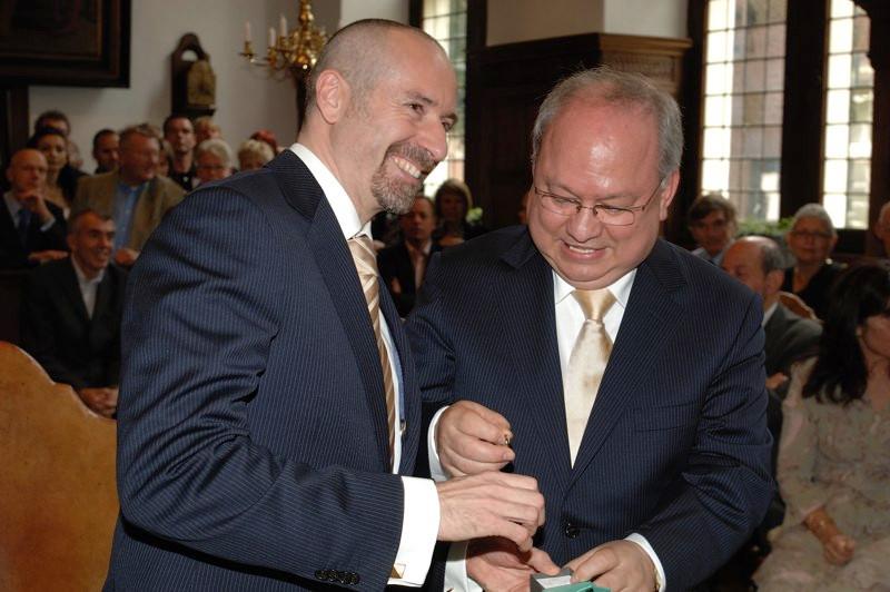 Jaime Báguena y Alfonso Montealegre. Ayuntamiento de Naarden Vesting, 29 junio 2007.
