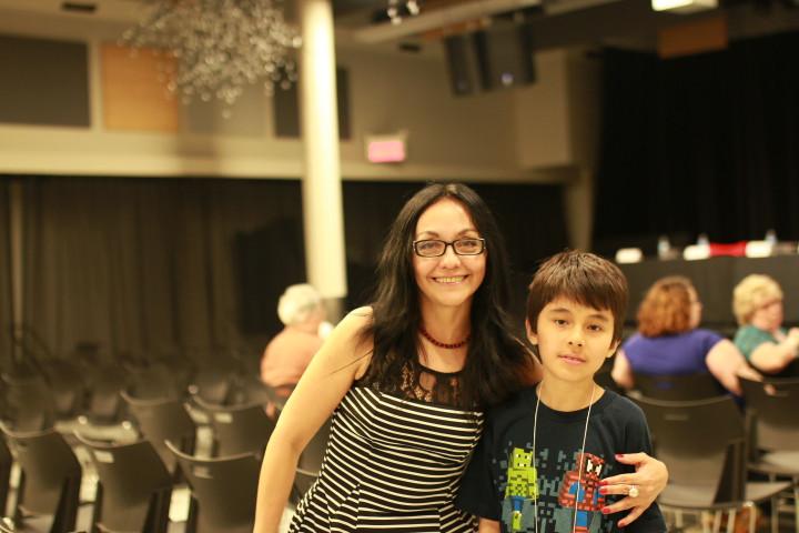 Lucila Guerrero y su hijo Luka. Foto: Patricia Duguay.