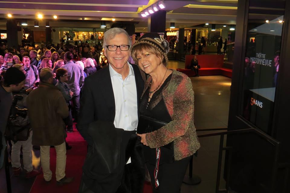 Blanca Victoria Solórzano en compañía del periodista y presentador Pierre Bruneau.
