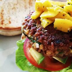 The Edwin's Classic Trini Veggie Burger