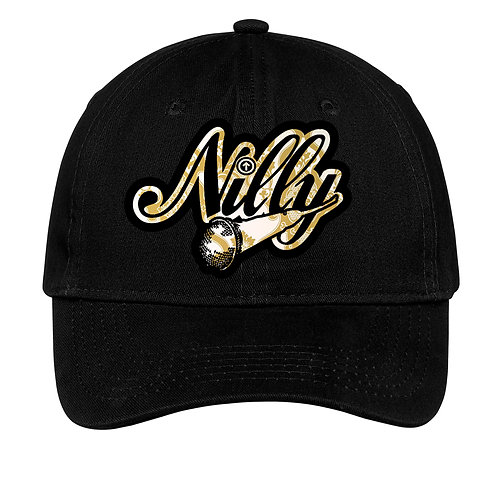Classic Nilly Logo Dad Hat Black