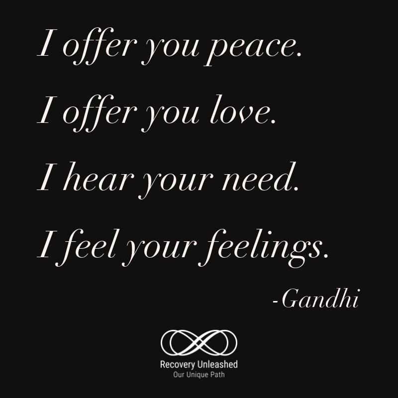 Gandhi quote...I offer you peace