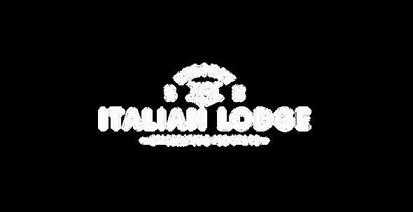 Transparent Italian Lodge White Logo web