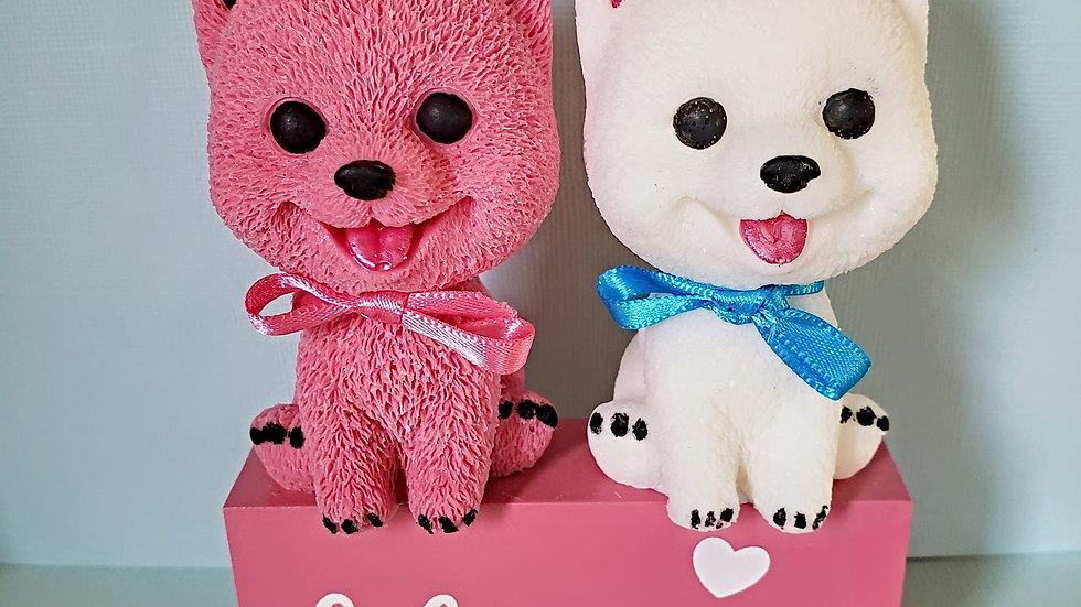 Pomeranian shaped soap, dog shaped soap, dog lover gift, customized